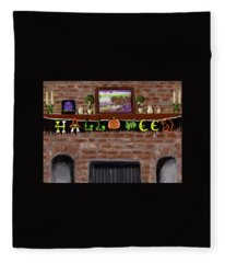 Halloween At Grammys Fleece Blanket