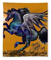 Halloween Fantasy Horse Fleece Blanket