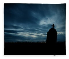 Halloween Graveyard Background Fleece Blanket