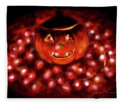 Halloween Lights Fleece Blanket