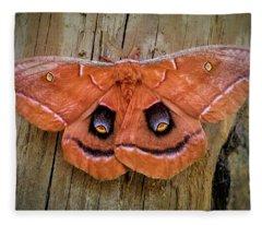 Halloween Moth Fleece Blanket