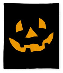 Halloween Pumpkin Tee Shirt Fleece Blanket