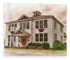 Hamilton High School In Cumberland County Virginia Fleece Blanket