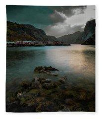 Hamnoy, Lofoten Islands Fleece Blanket