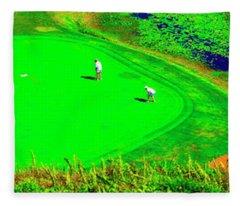 Hanalei Bay-bali Hai Ocean Nine Golf Course Princeville Kauai, Hawaii Fleece Blanket