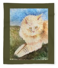 Handsome Kitty Fleece Blanket