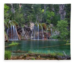 Hanging Lake Colorado Fleece Blanket