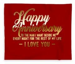 Happy Anniversary Fleece Blanket