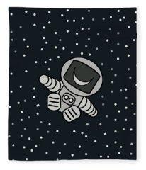 Happy Astronaut Fleece Blanket