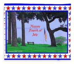 Happy Fourth Of July - A Scene From Fairhope Alabama Fleece Blanket