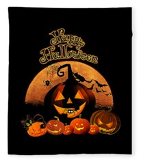 Happy Halloween Fleece Blanket