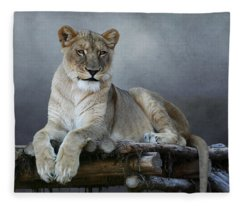 Happy Lioness Fleece Blanket