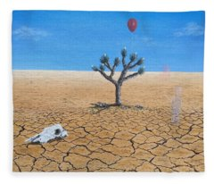 Fleece Blanket featuring the painting Happy Little Tree by Kevin Daly
