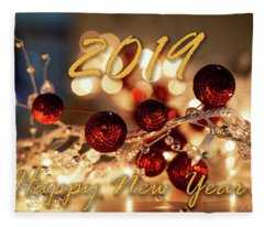 Happy New Year 2019 Fleece Blanket