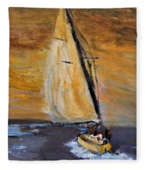 Happy Sails To You Fleece Blanket