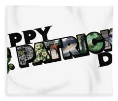 Happy St. Patrick's Day Big Letter Fleece Blanket