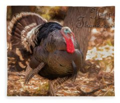 Happy Thanksgiving Fleece Blanket