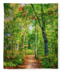 Happy Trails Fleece Blanket