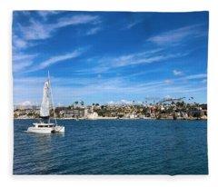Harbor Sailing Fleece Blanket