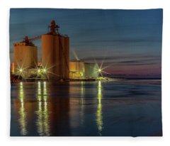Harbor Twilight Fleece Blanket