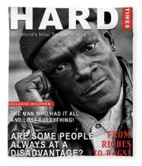 Hard Times Magazine Fleece Blanket