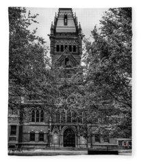Harvard Memorial Hall Fleece Blanket