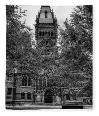 Harvard Memorial Hall Fleece Blanket