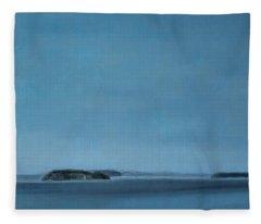 Hat Island View From Harborview Park Fleece Blanket