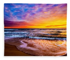 Hatteras Dawn  Fleece Blanket