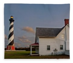 Hatteras Lighthouse No. 3 Fleece Blanket
