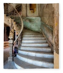 Havana Stairs Fleece Blanket