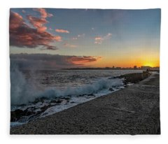 Havana Sunrise Fleece Blanket
