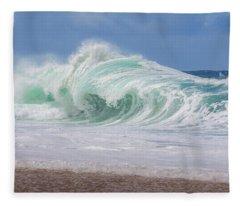 Hawaiian Shorebreak Fleece Blanket