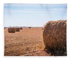 Hay Rolls Fleece Blanket