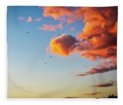 Heading Home Into The Sunset Fleece Blanket