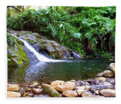 Healing Pool - Maui Hawaii Fleece Blanket