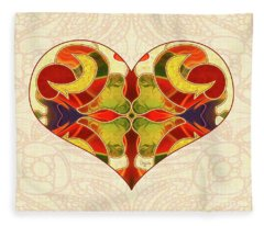 Heart Illustration - Creating Passionate Experience - Omaste Witkowski Fleece Blanket