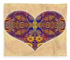 Heart Illustration - Exploding Possibilities - Omaste Witkowski Fleece Blanket