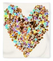 Heart Of A Hippie Fleece Blanket