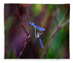 Heart Of Dragonfly Fleece Blanket
