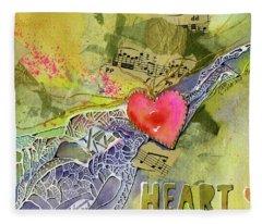 Heart Strings Fleece Blanket