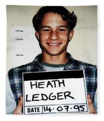 Heath Ledger Mugshot Fleece Blanket