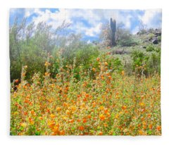 Fleece Blanket featuring the photograph Heavenly Home In Arizona by Judy Kennedy