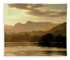 Heavens Golden Hour Fleece Blanket