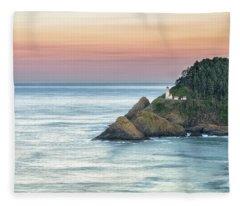 Heceta Lighthouse Fleece Blanket