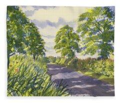 Hedgerows On Rudston Road Fleece Blanket