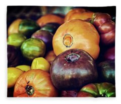 Heirloom Tomatoes At The Farmers Market Fleece Blanket