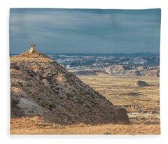 Hell Creek Badlands Fleece Blanket