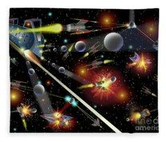 Hell In Space Fleece Blanket