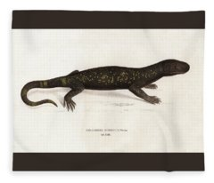 Heloderma Horridum, Beaded Lizard Fleece Blanket